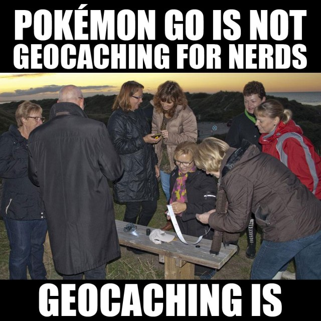 Pokémon Go v. Geocaching
